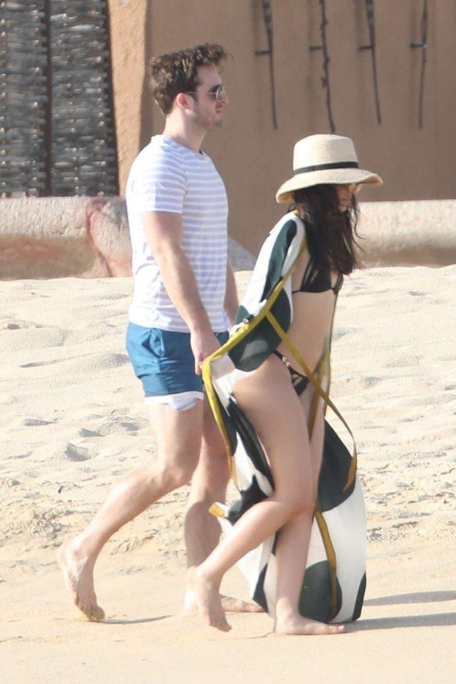 Camila Cabello in Bikini with Matthew Hussey at the beach in Cabo