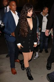 Camila Cabello in Black Mini Dress - Arriving at the SNL after-party in New York