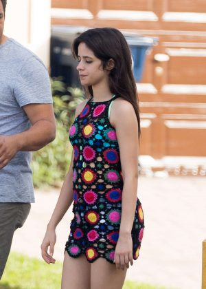 Camila Cabello in Short Dress out in Miami
