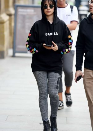 Camila Cabello in Tights - Out in Manchester