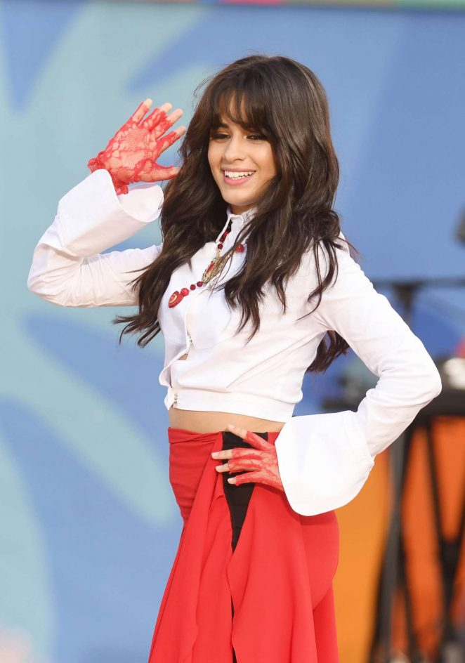 Camila Cabello - Performing on ABC's Good Morning America Summer Concert Series in NYC