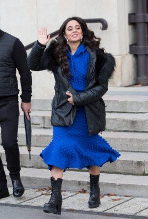 Camila Cabello - Pictured leaving L'Oreal Paris 2021 Show during Paris Fashion Week