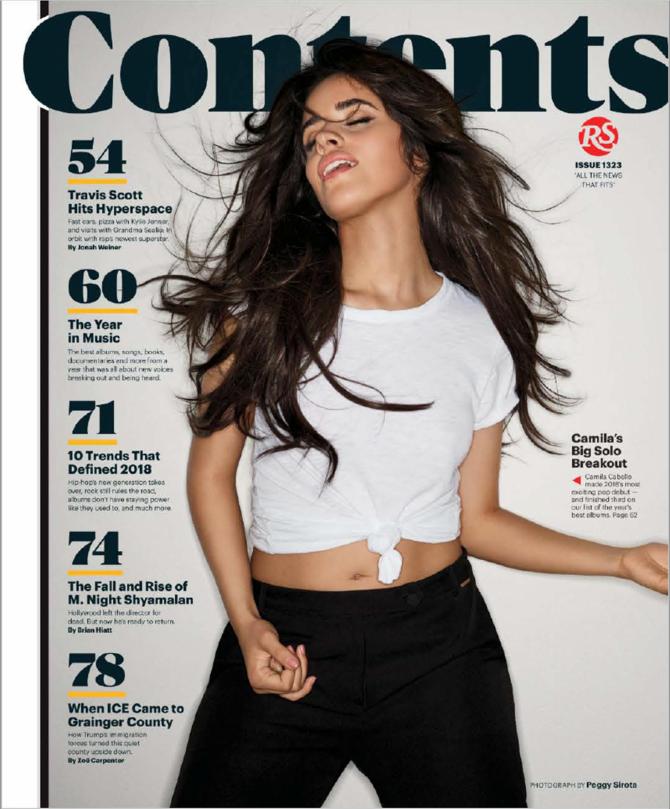 Camila Cabello – Rolling Stone US Magazine (January 2019)