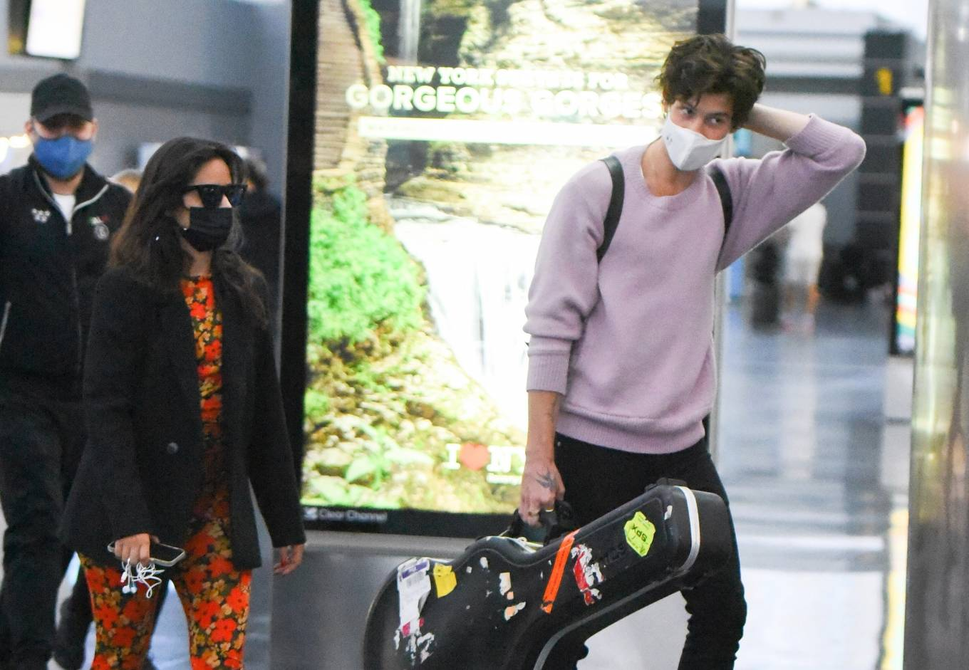 Camila Cabello 2021 : Camila Cabello – With Shawn Mendes seen at JFK Airport in New York City-02
