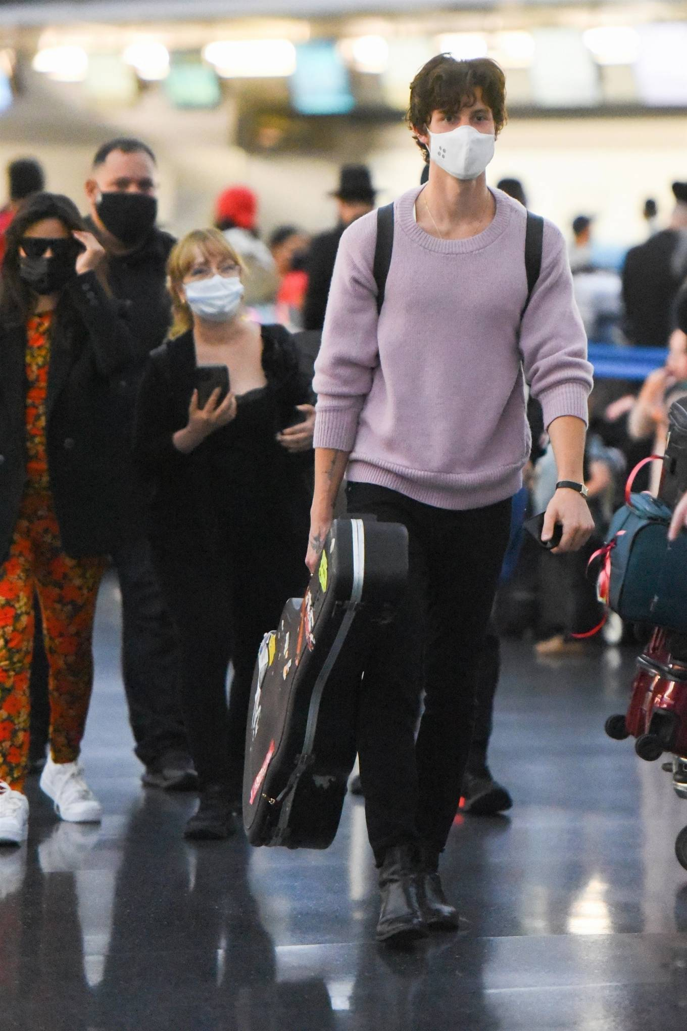 Camila Cabello 2021 : Camila Cabello – With Shawn Mendes seen at JFK Airport in New York City-03