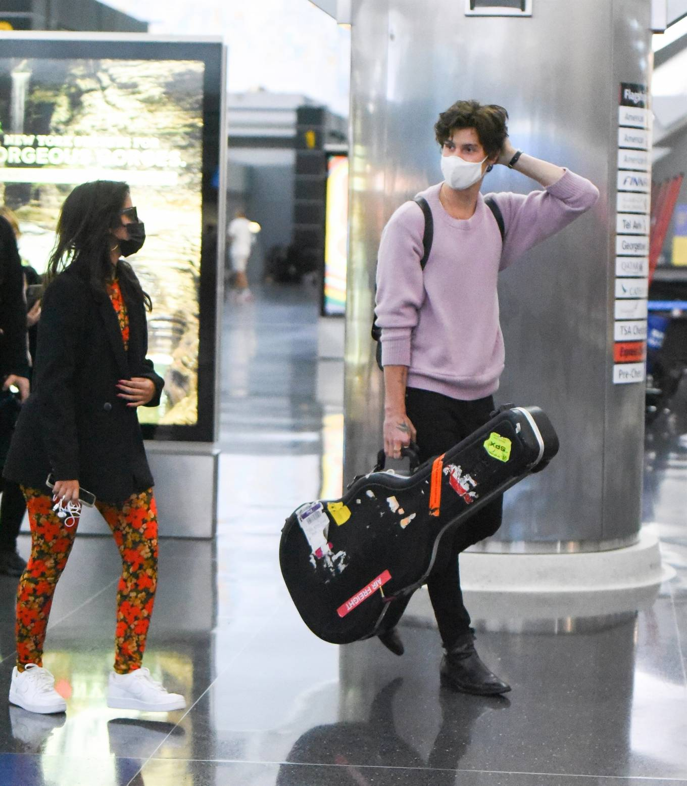 Camila Cabello 2021 : Camila Cabello – With Shawn Mendes seen at JFK Airport in New York City-05