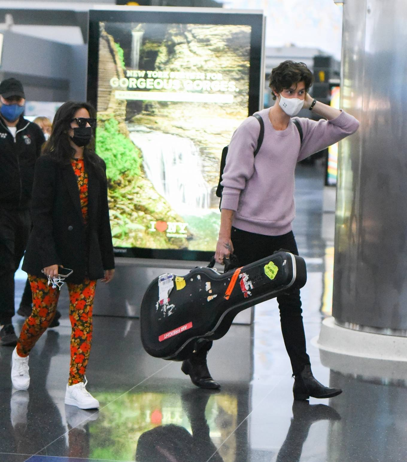 Camila Cabello 2021 : Camila Cabello – With Shawn Mendes seen at JFK Airport in New York City-08