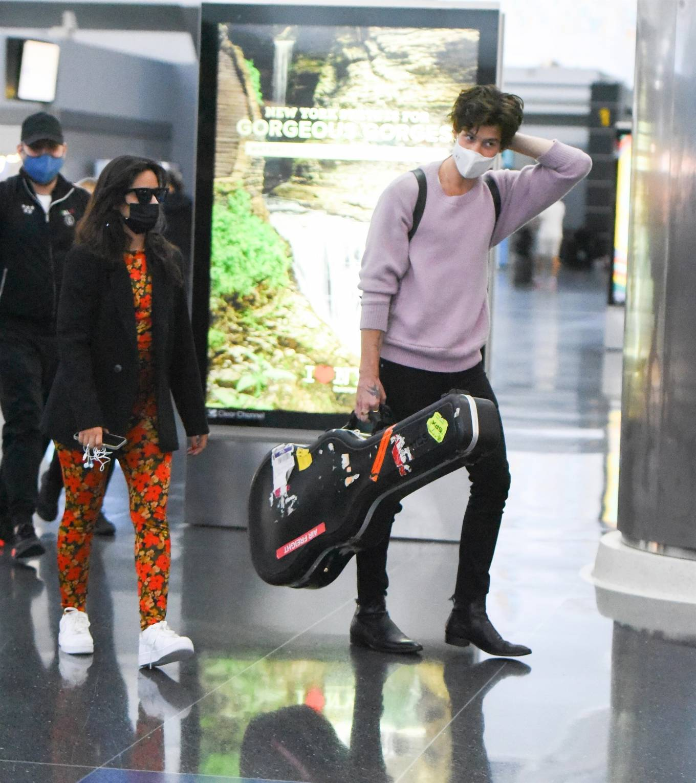 Camila Cabello 2021 : Camila Cabello – With Shawn Mendes seen at JFK Airport in New York City-10