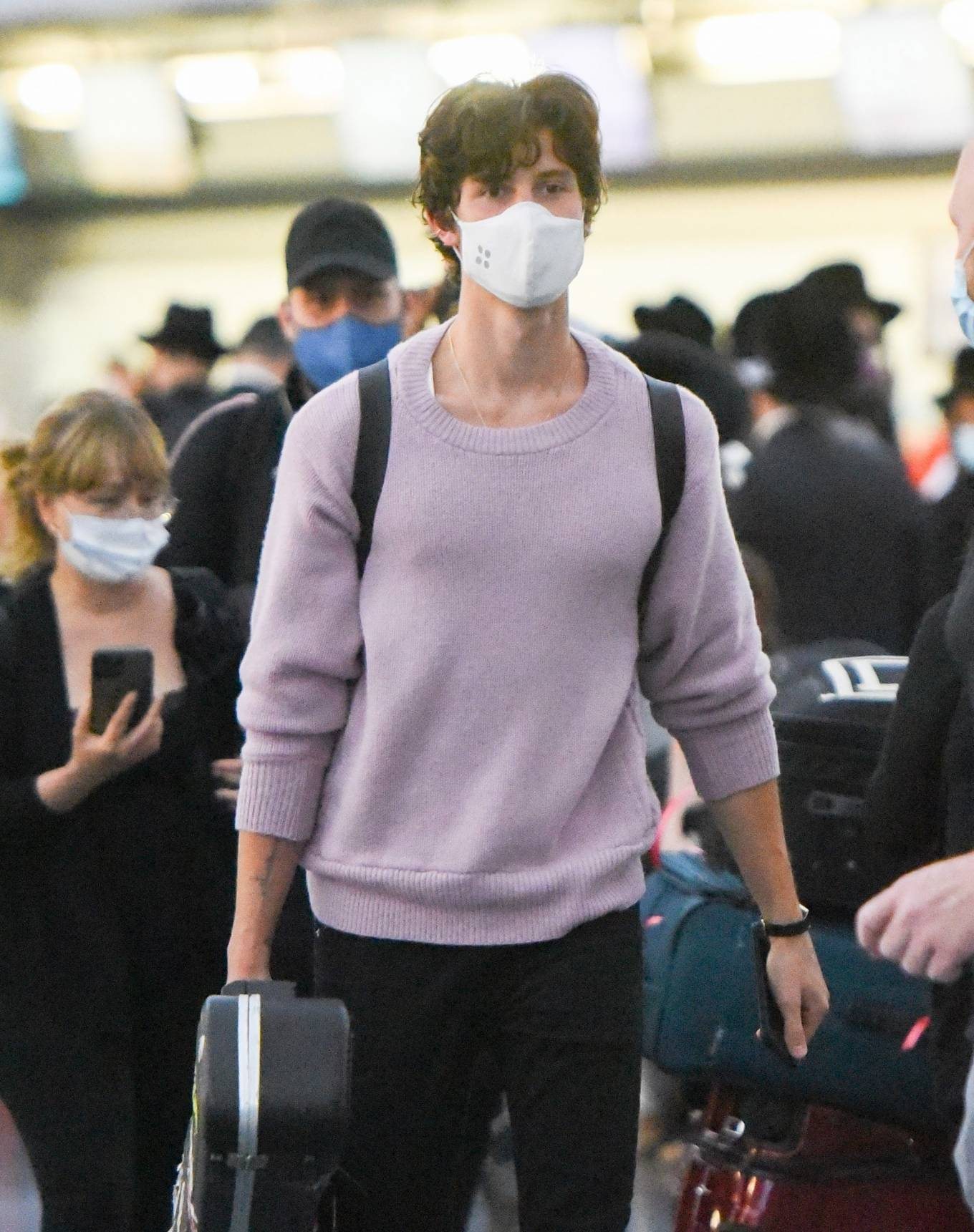 Camila Cabello 2021 : Camila Cabello – With Shawn Mendes seen at JFK Airport in New York City-11