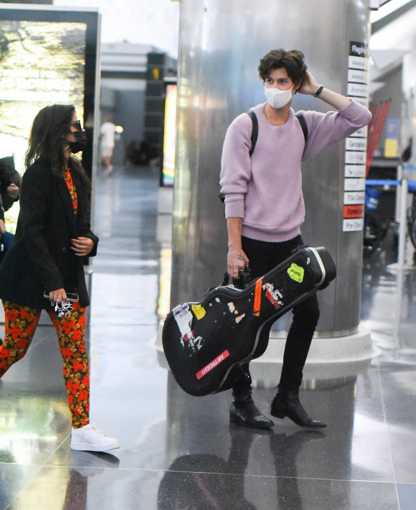 Camila Cabello 2021 : Camila Cabello – With Shawn Mendes seen at JFK Airport in New York City-13