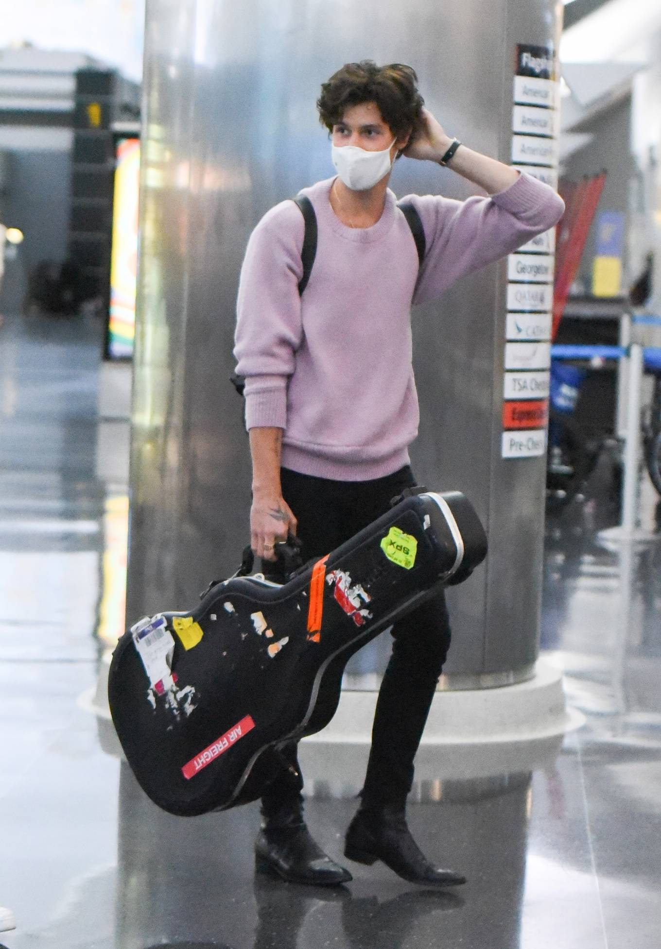 Camila Cabello 2021 : Camila Cabello – With Shawn Mendes seen at JFK Airport in New York City-14
