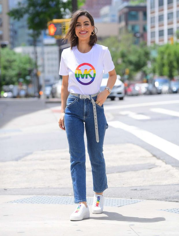 Camila Coehlo in Pride T-Shirt - Out in NYC