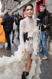 Camila Coelho - Arrives at Giambattista Valli Show at Paris Fashion Week 2020