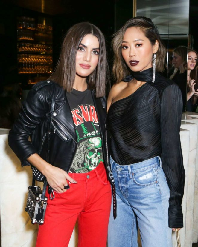 Camila Coelho - Forward by Elyse Walker Dinner with Grlfrnd Denim in Paris