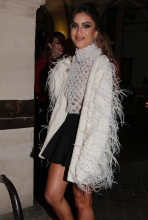 Camila Coelho - Pictured leaving Valentino party during the Paris Fashion Week