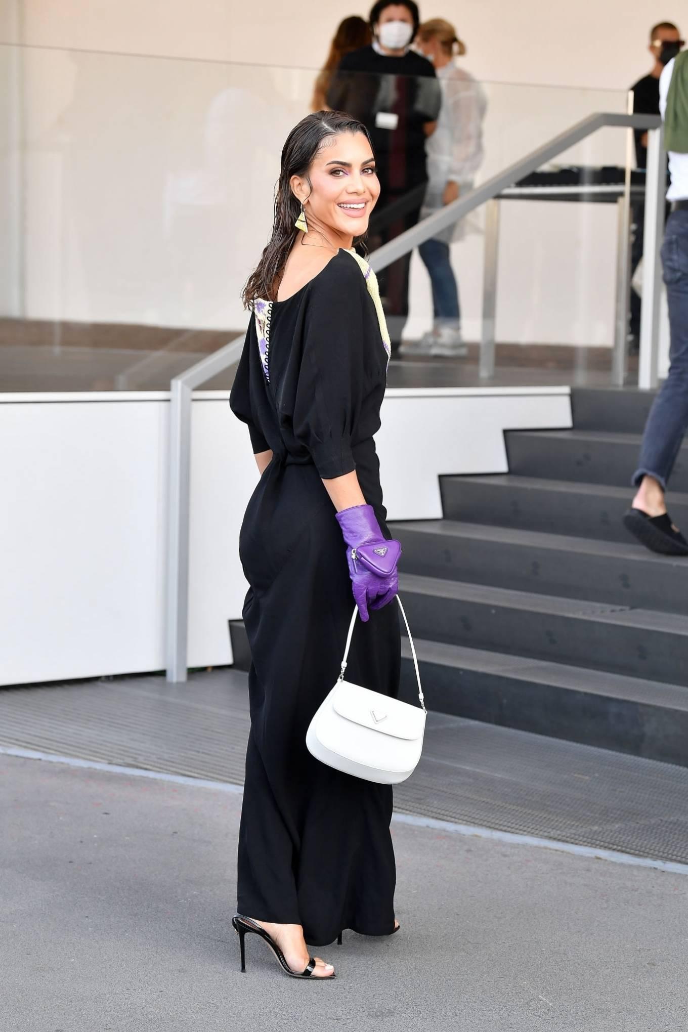Camila Coelho - Posing during the Milan Fashion Week Spring - Summer 2022 in Milan