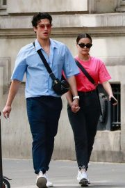 Camila Mendes and Charles Melton - Out in Paris