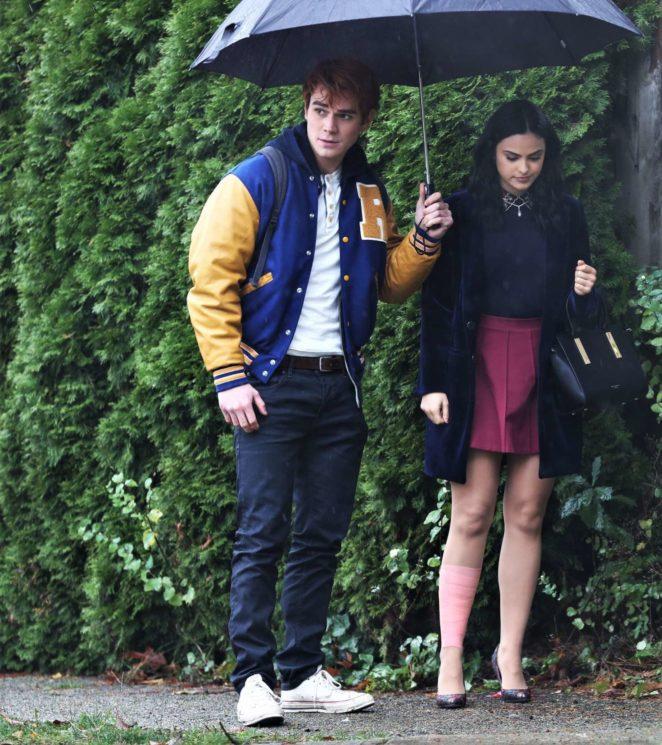 Camila Mendes and KJ Apa – Filming 'Riverdale' in Vancouver