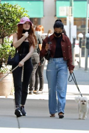 Camila Mendes and Madelaine Petsch - Out for a dogs walk in Vancouver