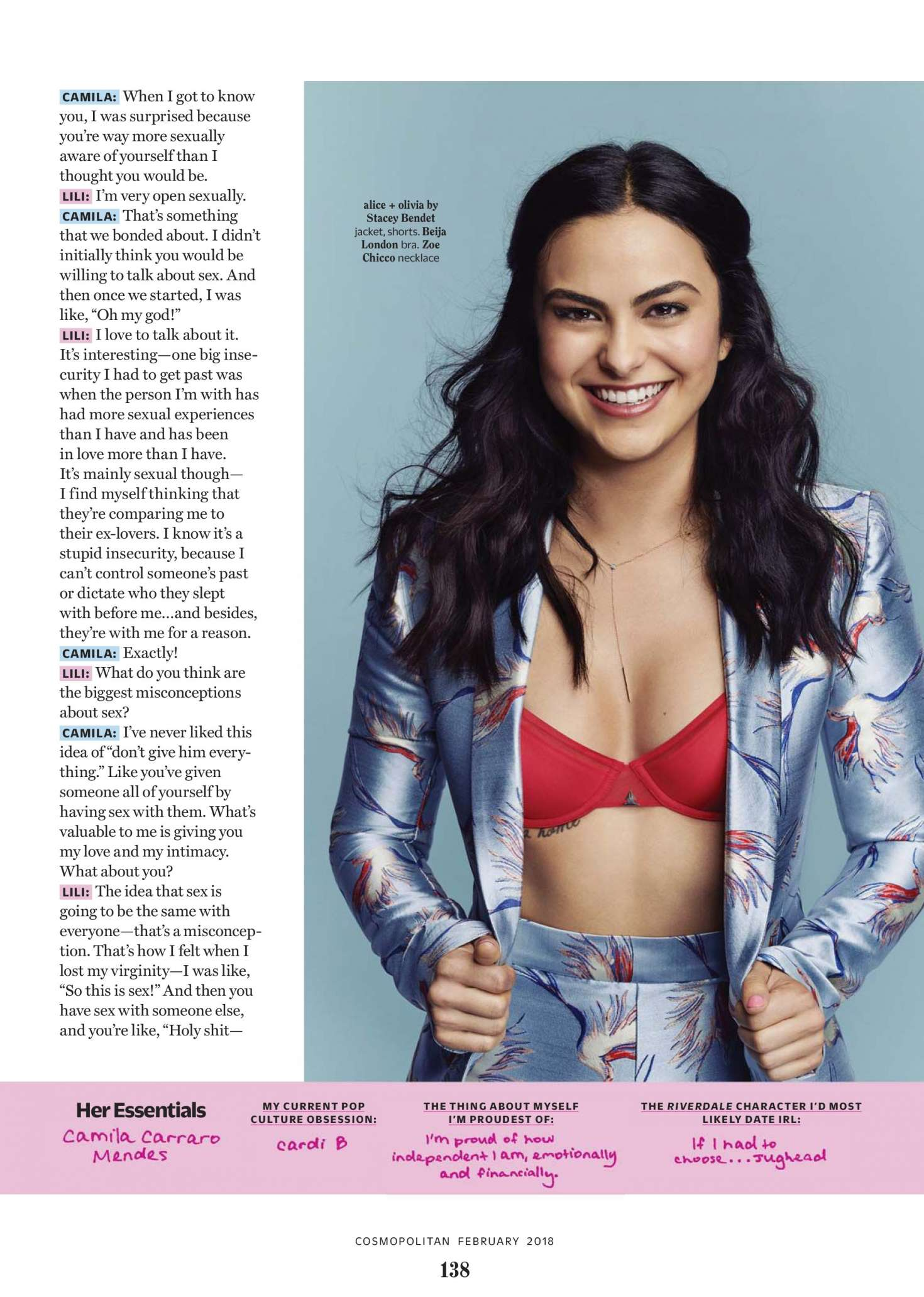 Camila Mendes - Cosmopolitan Magazine (February 2018)