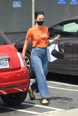 Camila Mendes - Grabbing a cup of coffee to go in Los Angeles