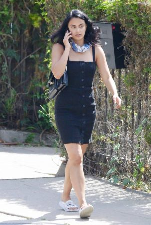 Camila Mendes in Mini Dress - Out for a coffee run in Los Angeles