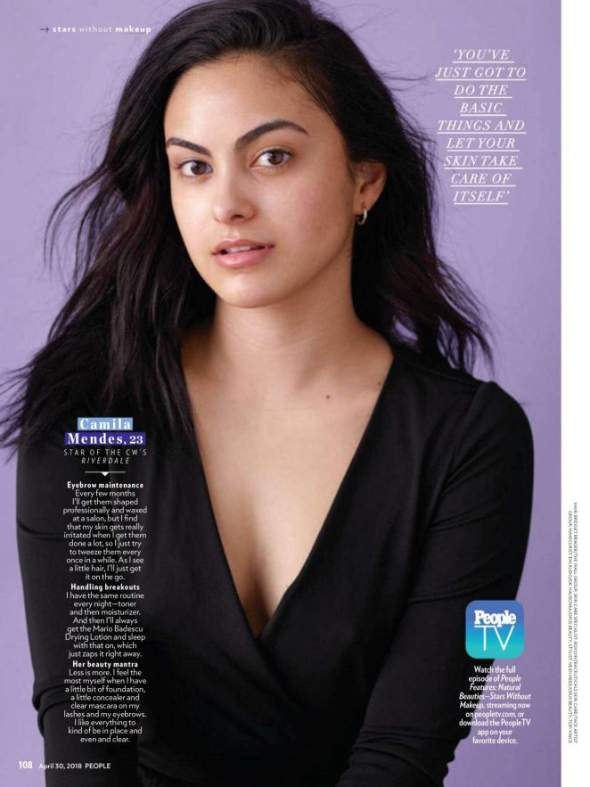 Camila Mendes – Makeup free for People by Lauren Dukoff 2018