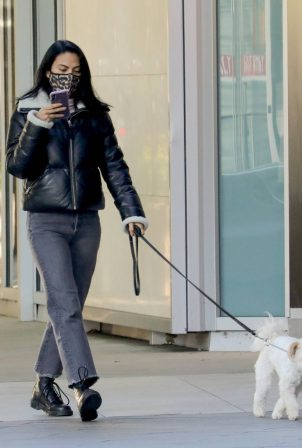Camila Mendes - Out for a walk with Truffle in Vancouver