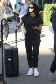Camila Mendes - Out with luggage in NY