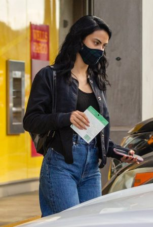 Camila Mendes - Seen at a salon in Studio City