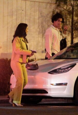Camila Mendes - With Charles Melton are spotted During a Night Out with Friends in Los Angeles
