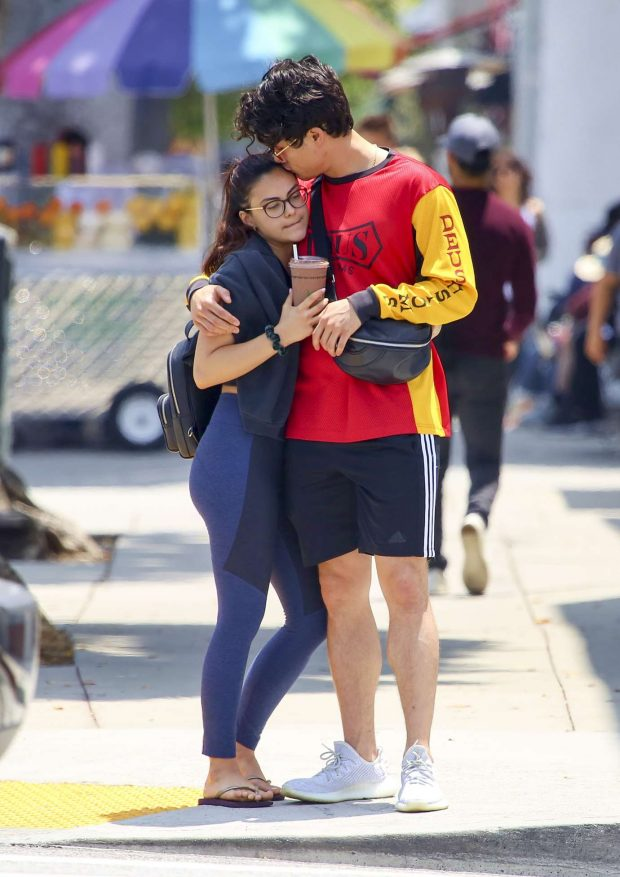 Camila Mendes - With her boyfriend out in LA