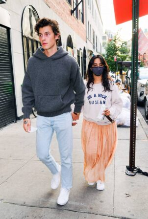 Camila Mendes - With Shawn Mendes step out together in New York City