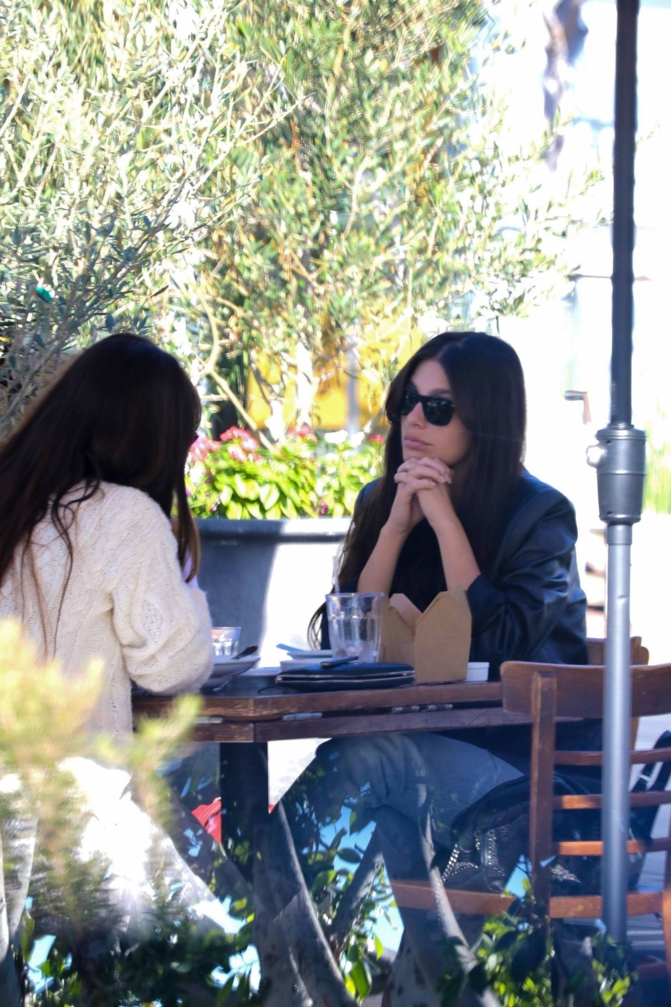 Camila Morrone 2020 : Camila Morrone and her mother – Seen at Mauros cafe in West Hollywood-02