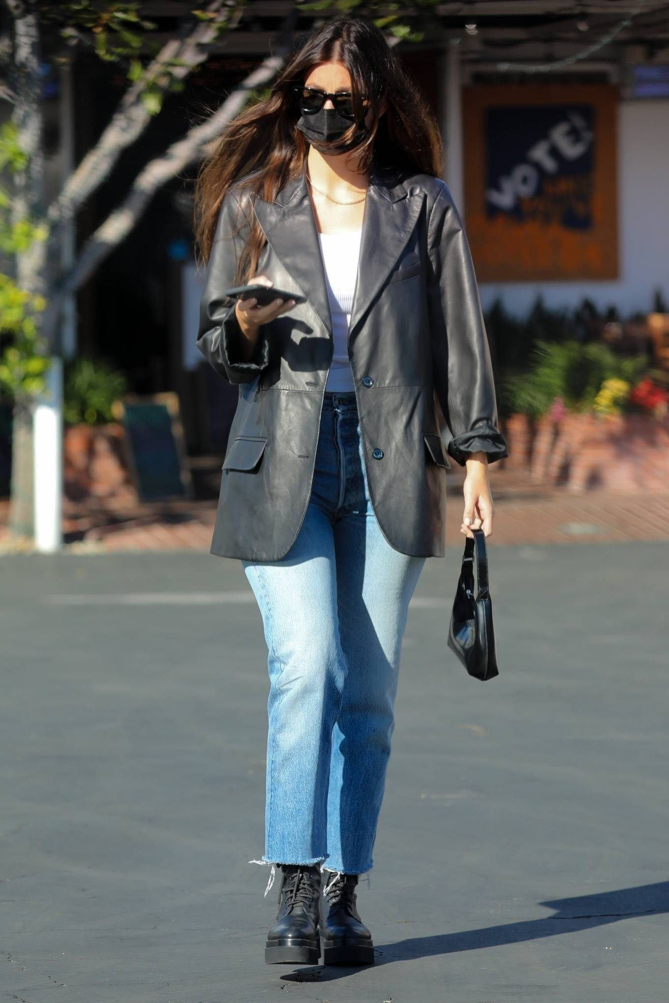 Camila Morrone 2020 : Camila Morrone and her mother – Seen at Mauros cafe in West Hollywood-06