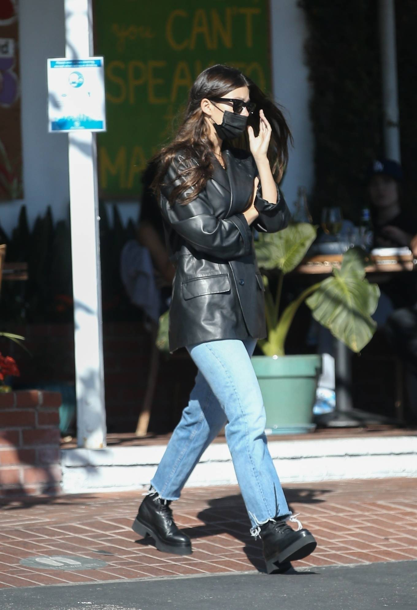 Camila Morrone 2020 : Camila Morrone and her mother – Seen at Mauros cafe in West Hollywood-09
