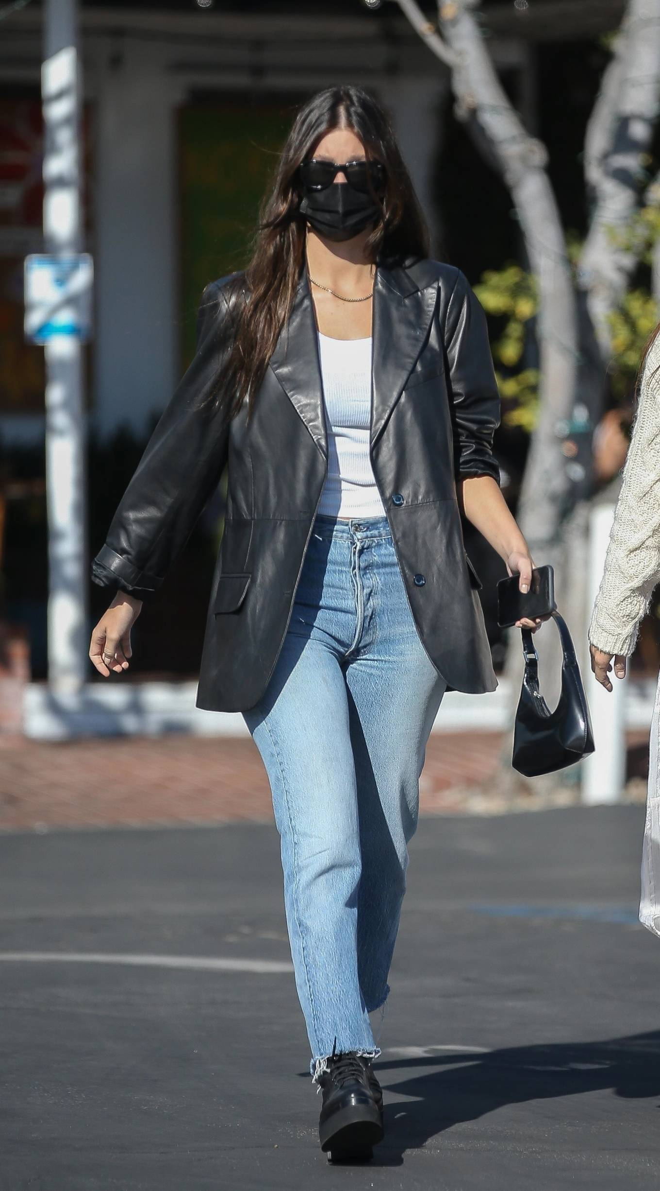 Camila Morrone 2020 : Camila Morrone and her mother – Seen at Mauros cafe in West Hollywood-13