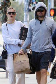 Camila Morrone and Leonardo DiCaprio grocery shopping in Los Angeles