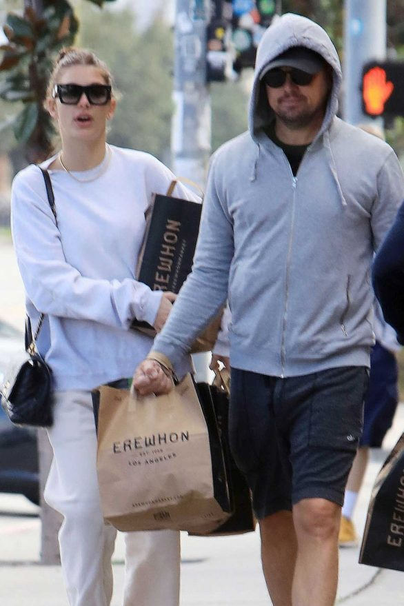 Camila Morrone and Leonardo DiCaprio grocery shopping in Los Angeles