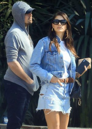 Camila Morrone and Leonardo DiCaprio - Shopping on Melrose Place in West Hollywood