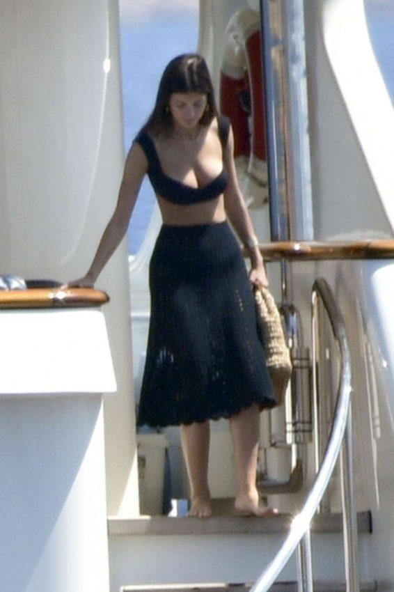 Camila Morrone enjoy a vacation on a yacht in Porto Cervo