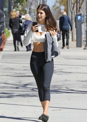 Camila Morrone - Heading to her weekly pilates class in LA
