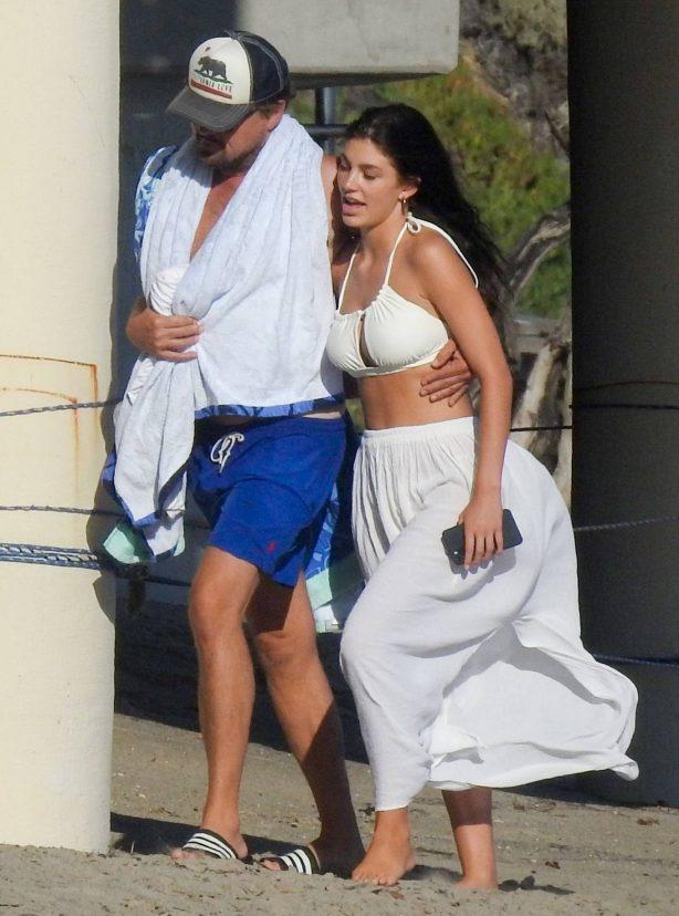 Camila Morrone In a bikini with Leonardo DiCaprio on the beach in Malibu