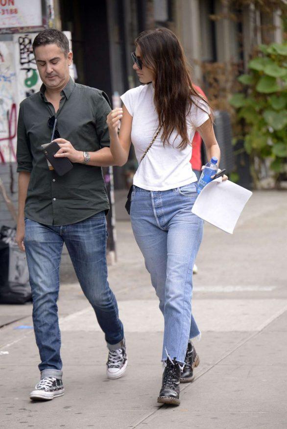 Camila Morrone in Denim Out in New York