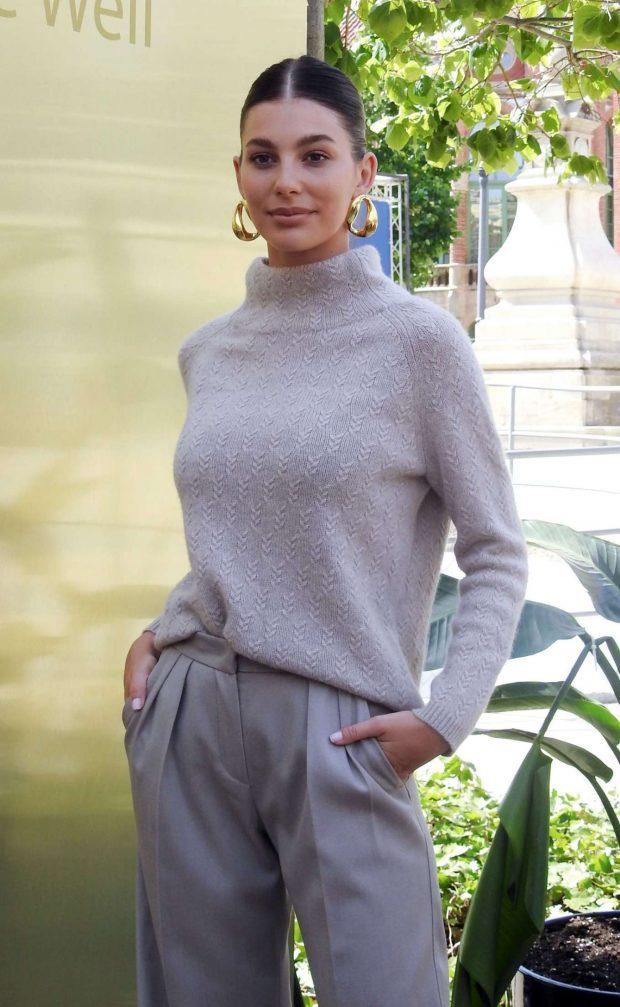 Camila Morrone - Lola Casademunt Photocall at Barcelona Fashion Week in Barcelona