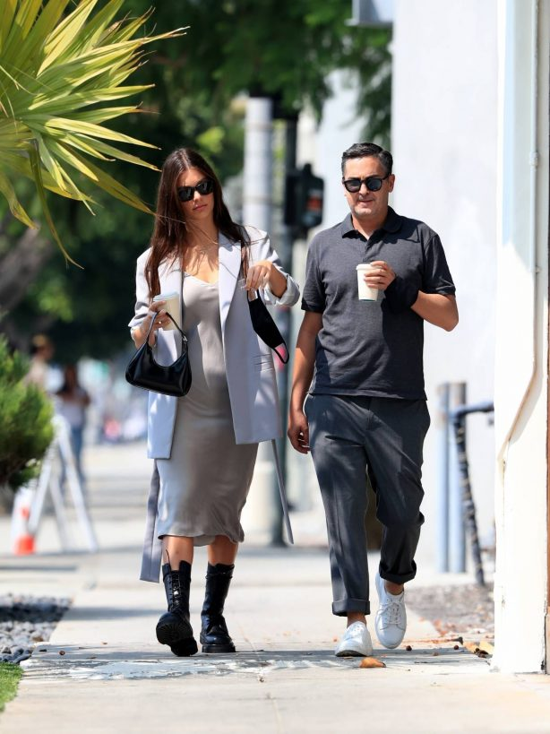 Camila Morrone - Out for a stroll with her stylist in West Hollywood