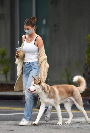 Camila Morrone - Out to Walk Her Husky in Los Angeles