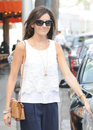 Camilla Belle at a Panini Restaurant in Beverly Hills