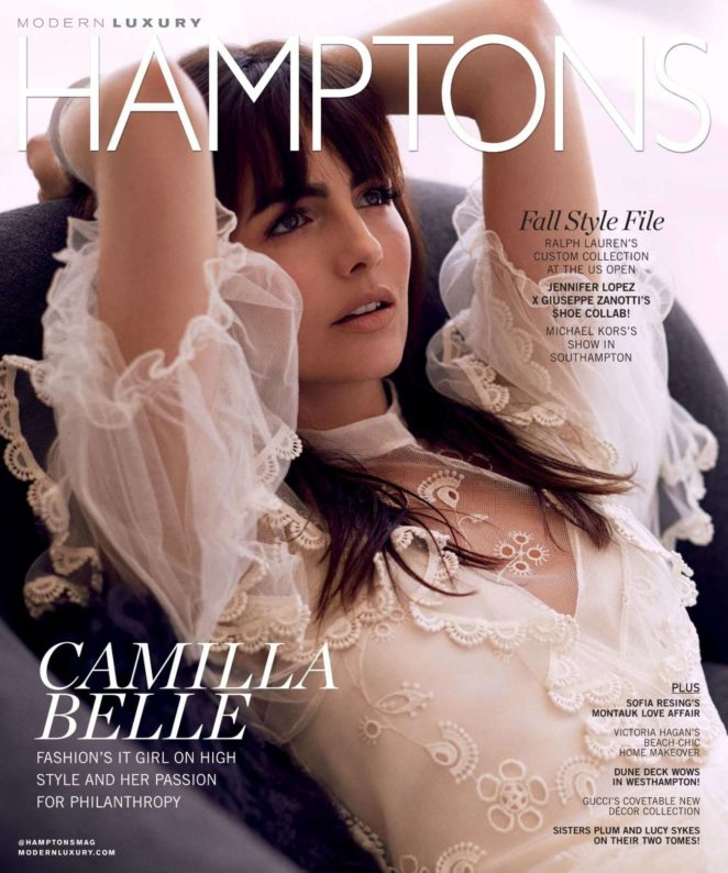 Camilla Belle - Hamptons Magazine - September 2017 issue