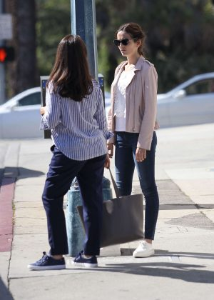 Camilla Belle in Jeans out in Los Angeles